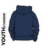 Roberttown Road Runners navy youth hooded top back image