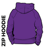 Kirkstall Harriers purple zipped hooded top back