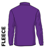 Kirkstall Harriers purple fleece top back