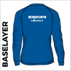 Horsforth Harriers royal base layer, back view with printed club text