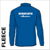 Horsforth Harriers royal fleece top back with printed club text on centre back.