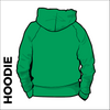 St. Theresas green hooded top back