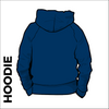 St. Theresas navy hooded top back