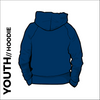 St. Theresas navy youth hooded top back