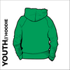 St. Theresas green youth hooded top back