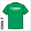 St Thereseas green athletic Cool T-Shirt back image showing club text