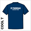 St Thereseas navy athletic Cool T-Shirt back image showing club text