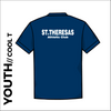 St. Theresas navy youth athletics Cool T-Shirt back image with printed club text centre back