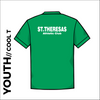 St. Theresas green youth athletics Cool T-Shirt back image with printed club text centre back
