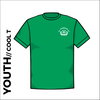 St. Theresas green youth athletics Cool T-Shirt front image with printed club badge on chest