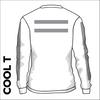 St. Theresas white Long Sleeve reflective athletics Cool T-Shirt back image