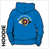 Bronte Archers Hooded top. Royal colour with a double lined hood and pouch pocket. Embroidered club badge across shoulders.