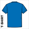 Back of Bronte Archers official Cotton T-Shirt. Royal blue coloured 100% cotton fabric.