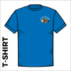 Front of Bronte Archers official Cotton T-Shirt. embroidered club badge on left chest.