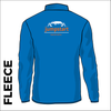 Fleece top back with printed club text on centre back.