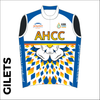 Summer club bundle kit. Detail image of the club cycle gilet included in the club kit bundle deal.