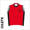 Winter club bundle kit. Detail image of the club cycle Winter gilet included in the club kit bundle deal.