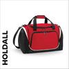 custom printed Red team wear holdall