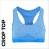 Custom printed Blue ladies crop top