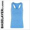 Blue ladies baselayer vest