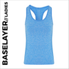 custom printed Blue ladies baselayer vest