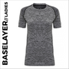 custom prionted Charcoal Ladies Short Sleeve Baselayer