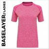 custom printed Pink Ladies Short Sleeve Baselayer