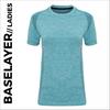 custom printed Turquoise Ladies Short Sleeve Baselayer