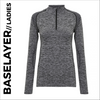Charcoal Ladies Long Sleeve Baselayer, customisable with your own print
