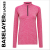 Pink Ladies Long Sleeve Baselayer, customisable with your own print