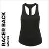 custom printed Charcoal Grey ladies Racer back vest