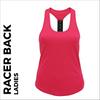 custom printed Pink ladies Racer back vest