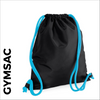 Black Gymsac with blue cords