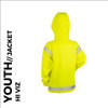 cozy reflective youth cycling and activewear jacket back