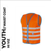 fun orange reflective youth cycling waistcoat front