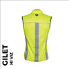 reflective mens cycling gilet back