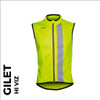 reflective mens cycling gilet front