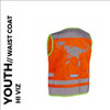 nutty orange reflective youth cycling waistcoat back
