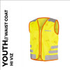 nutty yellow reflective youth cycling waistcoat front