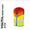 rainbow reflective youth cycling waistcoat front