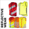 Range of reflective wear for cycling and running