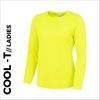 high visibility ladies long sleeve cool T