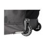 Shrey wheels on base of elite wheeled cricket kit bag