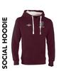 Shadwell CC maroon social hoodie with club badge