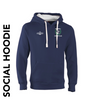 Shadwell CC navy social hoodie with club badge