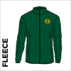 Bottle green fleece front with embroidered EH left chest badge