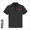 Polo T-Shirt. black colour ring spun cotton fabric in a double pique knit for breathability and strength.