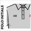 Polo T-Shirt. grey colour with embroidered initials