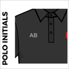 Polo T-Shirt. black colour with embroidered initials