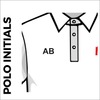 Polo T-Shirt. white colour with embroidered initials
